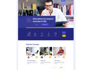 Education website layout design web