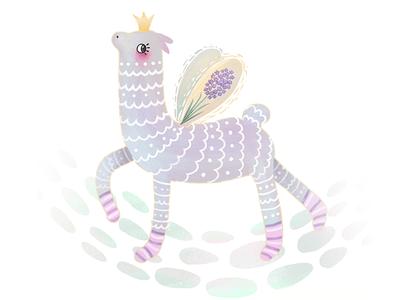 Lavender Lama