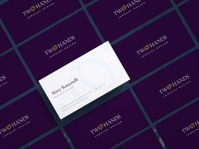 Two Hands Business Cards  branding graphic design business cards design jewelry two hands two hands jewelry design