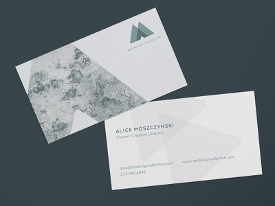 Am Design Collective Business Cards businesscards designstudio business cards branding design branding logo
