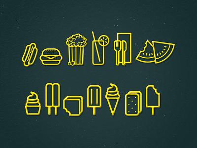 JCD Summer Icons watermelon ice cream hot dog icon design icons icon graphic design jcd