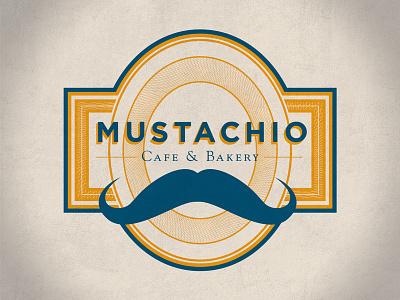 Mustachio Closeup bakery cafe identity branding logo graphic design mustache