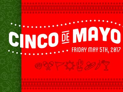 Cinco de Mayo 2017 maracas lime sombrero margarita icons green red holiday logotype logo cinco cinco de mayo