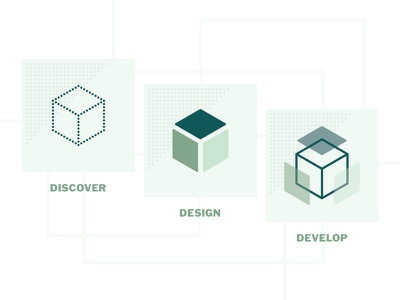 Discover Design Develop icons business freelance web development graphic design develop design discover