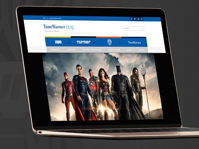Time Warner Blog Redesign in-house brand branding graphic design responsive blog web design