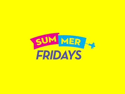 Summer Fridays Logo By Jake Cooper Design branding design graphic design summer fridays yellow logos logo fridays summer
