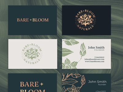 BARE + BLOOM visual identity proposal