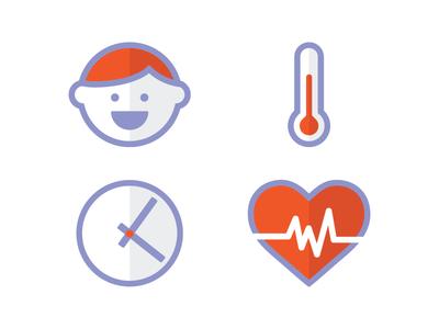 Baby health icons