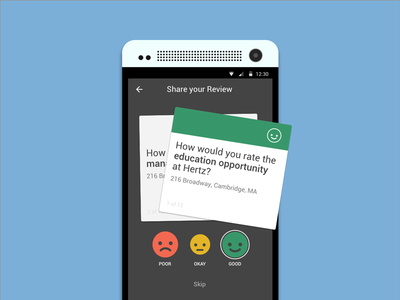 Swiping cards screen swipe mobile htc android material design tinder cards