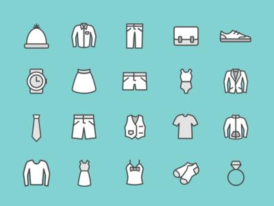 Clothing Icon set