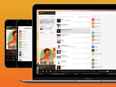 Mac App Redesign [SONOS] player list desktop interface screen ios music old redesign app web