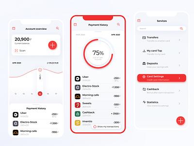 Finance mobile app | Concept finance app flat app web uiux concept webdesign ui ux design