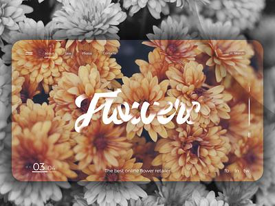 Concept design   Flowers Websites floral flowers concept webdesign ux ui design