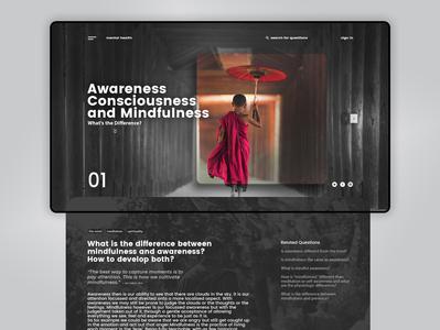 MINDFULNESS | Landing Page