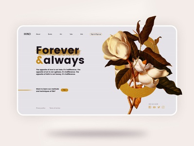 Floral Landing Page
