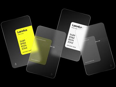 Lannka Card Design banking card credit card fintech modern bank online banking financial finance virtual card