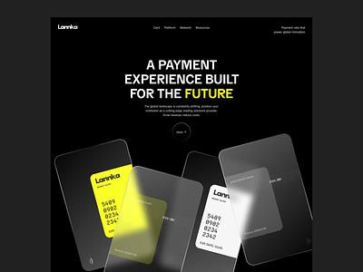 Lannka Website Hero credit card saas startup fintech modern banking online banking
