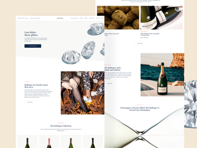 Champagne Bollinger® shopify theme ecommerce design bollinger editorial design editorial shopify ecommerce champagne