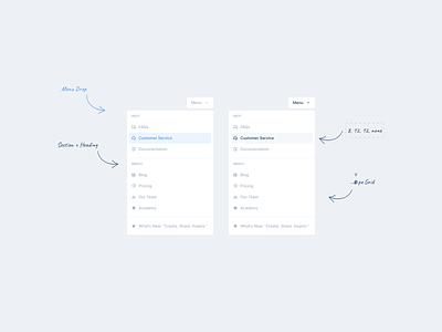 Little Big Details #1 -- Menu Drop input design tips freebie ui elements dashboard light ui product design dropdowns dropdown