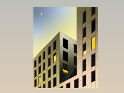 Every great building once began as a building plan. art building illustration