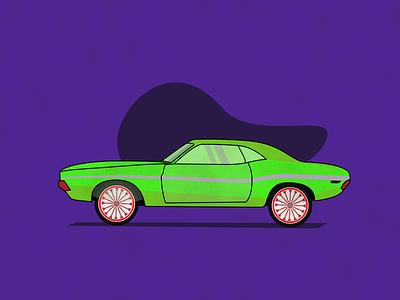 Dodge challenger 1970. dodge oldcar art design illustration car