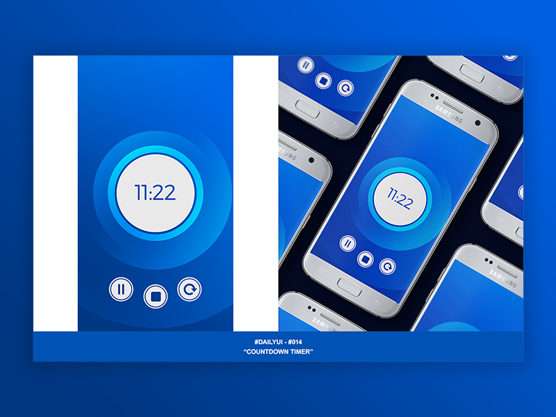 DailyUI #014 Countdown Timer by William Back on Dribbble