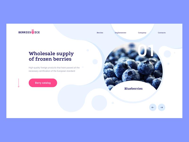 Berries Pre design concept ux  ui