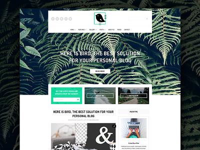 Bird - Elegant Magazine Blog PSD Template woocommerce unique responsive psd professional portfolio magazine elegant creative corporate clean blog