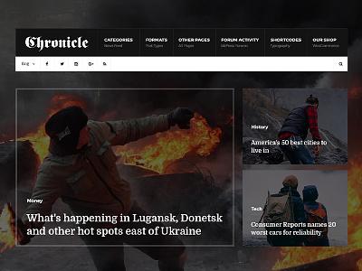 Chronicle - Premium News and Magazine PSD Template unique responsive personal blog online news newspaper news modern magazine creative clean blog