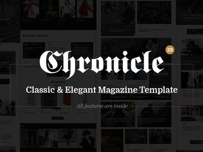 Chronicle - Premium News and Magazine PSD Template blog clean creative magazine modern news newspaper online news personal blog responsive unique
