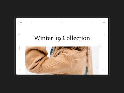 Online store - CS® interaction interface minimal concept ux ui