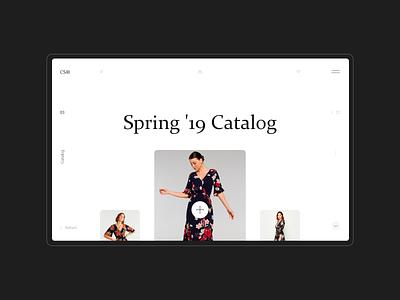 Catalog - CS® online store concept interface minimal ux ui