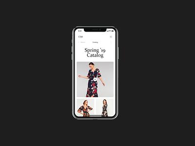Catalog Mobile - CS® online store concept ux ui minimal interface