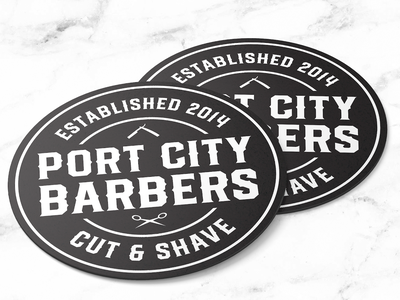 Port City Barbers coasters port city coasters