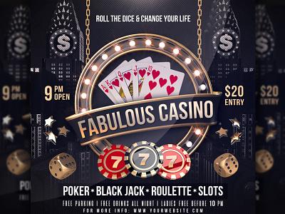 Poker Casino Flyer poker poker flyer poker chips poker challenge poker casino playing cards las vegas gambling dice casino flyer casino blackjack black
