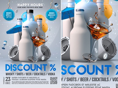Happy Hour Flyer Template nightclub flyer template poster party summer drinks summer restaurant promotion happy hour poster happy hour flyer happy hour drink cocktail club bar