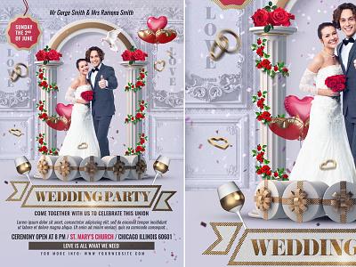 Wedding Invitation Template celebration invitation poster template party flyer wedding invitation wedding flyer wedding card wedding marriage invitation marriage