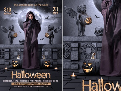 Halloween Flyer poster event halloween halloween flyer halloween invitation halloween party halloween poster happy halloween haunted party horror template party invitation trick or treat flyer