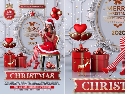 Christmas Party Flyer celebration poster template xmas party xmas flyer xmas new year flyer merry christmas christmas white party christmas template christmas party christmas night christmas flyer christmas event christmas eve christmas ball christmas