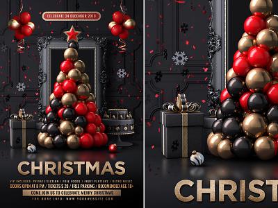 Classy Christmas Party Flyer celebration poster template xmas party xmas flyer xmas new year flyer merry christmas christmas white party christmas template christmas party christmas night christmas flyer christmas event christmas eve christmas ball christmas
