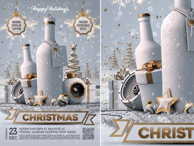 Christmas Party Flyer xmas party xmas flyer xmas new year flyer merry christmas christmas white party christmas template christmas party christmas night christmas flyer christmas event christmas eve christmas ball christmas