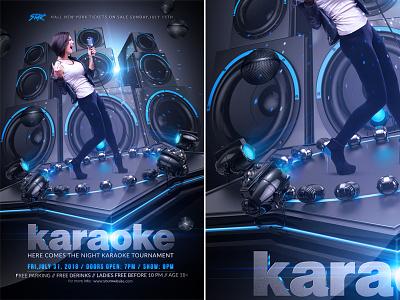 Karaoke Flyer design club party karaoke show singer party open mic night music modern microphone live lighting light karaoke party karaoke night karaoke flyer karaoke flyer event club
