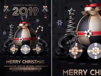 New Year And Christmas Flyer
