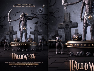 Halloween Flyer designs, themes, templates and downloadable