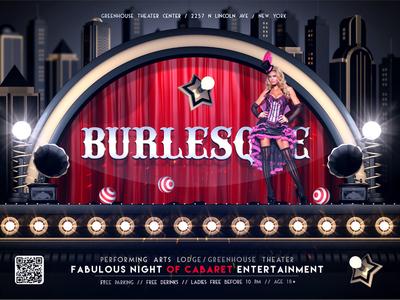 Burlesque & Cabaret Flyer Template