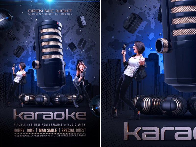 karaoke party flyer by rembassio rojansson on dribbble