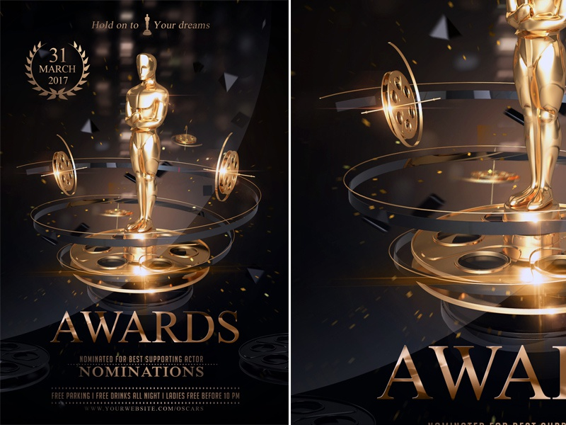 the golden awards flyer by rembassio rojansson on dribbble