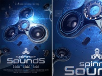 Spinner Sounds Party Flyer
