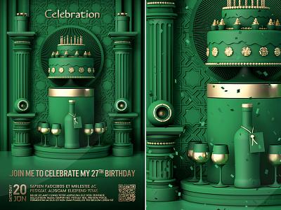 Birthday Celebration Flyer birthday party vop lounge vip club bash luxury birthday anniversary poster celebration invitation event template party flyer
