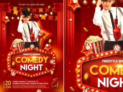 Stand Up Comedy Poster flyer template poster theater stand up comedy open mic comic comedy night comedy flyer comedy club comedy show comedy comedian club